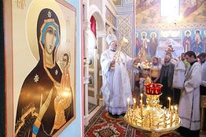 В праздник Вознесения состоялось Великое освящение храма Тихвинской иконы Божией Матери с. Речица
