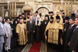В день памяти святителя Филиппа духовенство Орловской епархии сослужило Святейшему Патриарху Кириллу в Успенском соборе Кремля