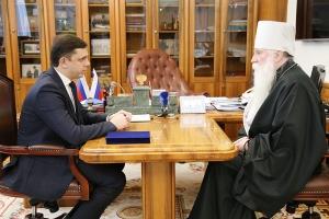 Состоялась встреча митрополита Симона с губернатором области Андреем Клычковым