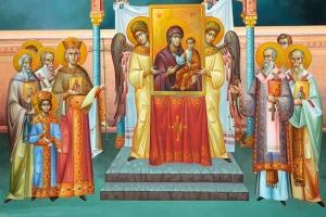 В праздник Торжества Православия епископ Алексий совершил литургию в Ахтырском соборе