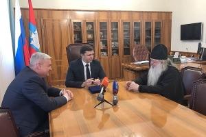 Архиепископ Тихон встретился с губернатором Орловской области Андреем Клычковым