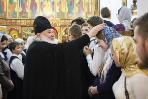 В день памяти священномученика Серафима (Чичагова) митрополит Тихон совершил литургию в Орловской православной гимназии