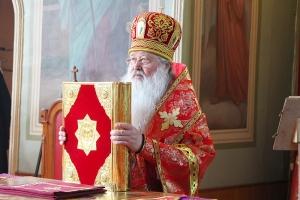 Глава Орловской митрополии совершил Литургию в праздник Преполовения Пятидесятницы