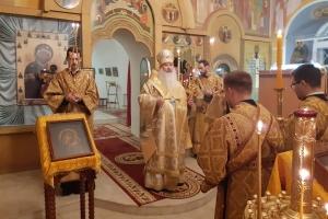 Архипастырь совершил всенощное бдение в Троице-Васильевском храме в канун Недели 24-й по Пятидесятнице