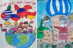 Воспитанники православной гимназии из Болхова в рисунках рассказали о народном единстве