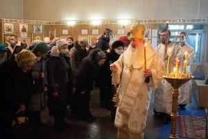 Митрополит Тихон возглавил всенощное бдение в Знаменском храме Орла