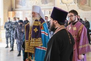 Архипастырь совершил благодарственный молебен в честь пятилетия Росгвардии и 210-летия войск правопорядка