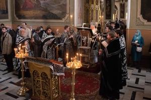 Архипастырь совершил утреню с чтением Великого канона преподобного Андрея Критского («Мариино стояние»)