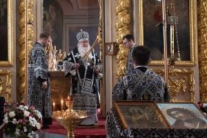 В Четверток Великого канона Владыка Тихон совершил Литургию Преждеосвященных Даров