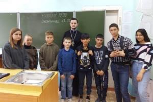 Знаменский священник поговорил со школьниками об их духовном мире
