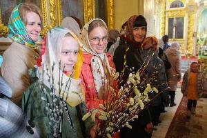 В праздник Входа Господня в Иерусалим Архипастырь совершил Литургию в Ахтырском соборе