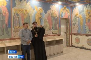 Орловская ГТРК рассказала о том, как расписывался храм в честь Собора Орловских святых