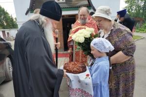 В день памяти святых Бориса и Глеба Владыка Тихон совершил Литургию в селе Лепешкино