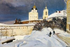 В Орле открылась выставка священника-живописца Алексия Комова