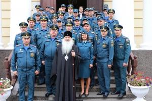 Орловские сотрудники МЧС помолились перед иконой Божией Матери «Неопалимая Купина»
