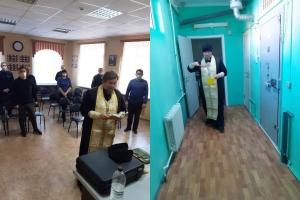 Священник побеседовал с болховскими полицейскими о христианской жизни и совершил молебен