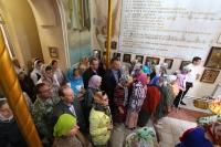 мВ Неделю 5-ю по Пасхе митрополит Орловский и Болховский Тихон совершил литургию в храме святого Александра Невского в 909 квартале Орла. 26 мая 2019 г.