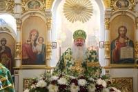 В день памяти св. Александра Невского митрополит Орловский и Болховский Тихон возглавил литургию в храме святого Александра Невского в 909 квартале Орла. 6 декабря 2019 г.