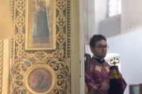 В Субботу Акафиста, праздник Похвалы Пресвятой Богородицы, митрополит Орловский и Болховский Тихон возглавил Божественную литургию во Введенском храме Болхова. 4 апреля 2020 г.