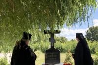 В 90-ю годовщину со дня рождения архиепископа Орловского и Ливенского Паисия (Самчука) на могиле почившего Архипастыря в Свято-Успенском монастыре совершена панихида. 15 августа 2020 г.