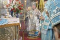 Праздничное богослужение в день Казанской иконы Божией Матери в Ахтырском соборе. 21 июля 2005 г.