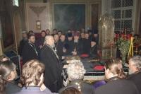 Последнее богослужение и последнее напутствие духовенства архиепископом Паисием. Прощеное воскресенье. 8 марта 2008 г.