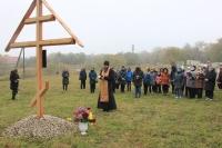 В память 150-летия Ивана Бунина поклонный крест установлен в поместье предков писателя. Октябрь 2020 г.