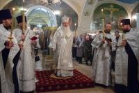 В канун праздника Крещения Господня (Богоявления) митрополит Орловский и Болховский Тихон совершил всенощное бдение в Богоявленском соборе Орла. 18 января 2021 г.