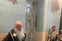 В понедельник первой седмицы Великого поста митрополит Орловский и Болховский Тихон молился за уставным богослужением в Николо-Песковском храме. 15 марта 2021 г.