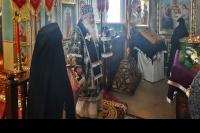 В день памяти 40 мучеников Севастийских митрополит Орловский и Болховский Тихон возглавил Божественную литургию Преждеосвященных Даров в храме Рождества Христова села Путимец Орловского района. 22 марта 2021 г.
