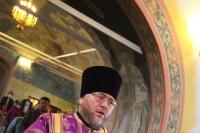 В Неделю 2-ю Великого поста митрополит Орловский и Болховский Тихон возглавил Божественную литургию в Троицком храме Болхова. 28 марта 2021 г.