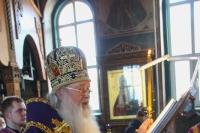 В канун субботы 4-й седмицы Великого поста митрополит Орловский и Болховский Тихон совершил в Свято-Успенском монастыре Орла особое заупокойное богослужение — парастас. 9 апреля 2021 г.