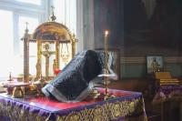 В среду Страстной седмицы митрополит Орловский и Болховский Тихон совершил в Ахтырском кафедральном соборе Орла последнюю в этом году Литургию Преждеосвященных Даров. 28 апреля 2021 г.