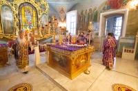 В канун Недели 3-й Великого поста, Крестопоклонной, митрополит Орловский и Болховский Тихон совершил всенощное бдение в Богоявленском соборе Орла. 3 апреля 2021 г.