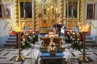 В канун праздника Благовещения митрополит Орловский и Болховский Тихон и схиархимандрит Илий (Ноздрин) совершили всенощное бдение в Ахтырском кафедральном соборе Орла. 6 апреля 2021 г.