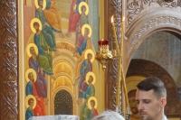 В Великую Субботу митрополит Орловский и Болховский Тихон в сослужении схиархимандрита Илия (Ноздрина) совершил вечерню и Литургию в Свято-Успенском монастыре Орла. 1 мая 2021 г.