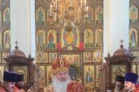 В канун Недели 3-й по Пасхе митрополит Орловский и Болховский Тихон возглавил всенощное бдение в Свято-Успенском мужском монастыре Орла. 15 мая 2021 г.