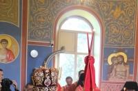 Митрополит Орловский и Болховский Тихон в сослужении митрополита Антония (Черемисова), епископа Ливенского и Малоархангельского Нектария и схиархимандрита Илия (Ноздрина) совершил Литургию в храме апостола Иоанна Богослова с. Ловчиково Глазуновского р-на. 21 мая 2021 г.