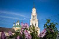 В канун Недели 4-й по Пасхе, о расслабленном, митрополит Орловский и Болховский Тихон совершил всенощное бдение в Ахтырском соборе Орла. 22 мая 2021 г.