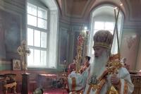 В Неделю 4-ю по Пасхе митрополит Орловский и Болховский Тихон в сослужении епископа Кафского Алексия, викария Корсунской епархии, временного управляющего Венско-Австрийской епархией, совершил Литургию в Ахтырском кафедральном соборе Орла. 23 мая 2021 г.