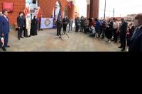 Митрополит Орловский и Болховский Тихон принял участие в открытии мемориальной доски в память о членах Императорского Православного Палестинского Общества на орловском вокзале. 25 мая 2021 г.