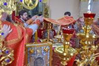 В четверг Светлой седмицы митрополит Орловский и Болховский Тихон возглавил Божественную литургию в храме Смоленской иконы Божией Матери г. Орла. 6 мая 2021 г.