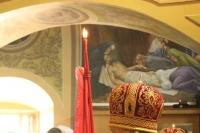 В пятницу Светлой седмицы митрополит Орловский и Болховский Тихон в сослужении митрополита Антония (Черемисова) и епископа Ливенского и Малоархангельского Нектария совершил Литургию в Сергиевском соборе г. Ливны. 7 мая 2021 г.