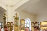 В Троицкую родительскую субботу митрополит Орловский и Болховский Тихон совершил Литургию в храме иконы Божией Матери «Взыскание погибших» города Орла. 19 июня 2021 г.