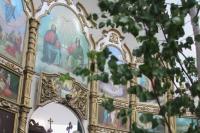 В праздник Святой Троицы (Пятидесятницы) митрополит Орловский и Болховский Тихон совершил  Литургию в Свято-Троицком храме п. Шахово Кромского района. 20 июня 2021 г.