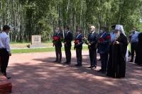 Митрополит Орловский и Болховский Тихон участвовал в церемонии торжественного перезахоронения останков 100 советских бойцов на Кривцовском мемориале. 21 июня 2021 г.