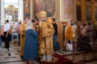 Митрополит Орловский и Болховский Тихон совершил всенощное бдение в Ахтырском кафедральном соборе Орла в канун Недели 3-й по Пятидесятнице. 10 июля 2021 г.