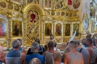 В День Военно-Морского Флота орловские моряки молились в Богоявленском соборе. 25 июля 2021 г.
