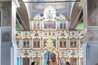 В праздник иконы Божией Матери «Троеручица» митрополит Орловский и Болховский Тихон совершил Литургию во Введенском храме Болхова. 25 июля 2021 г.