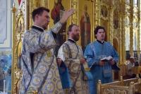 В праздник Смоленской иконы Божией Матери Владыка Тихон совершил иерейскую хиротонию в Смоленском храме г. Орла. 10 августа 2021 г.